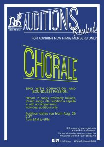 Chorale Audition