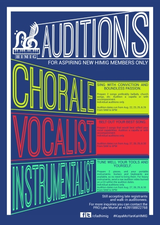 HIMIG Auditions 2014