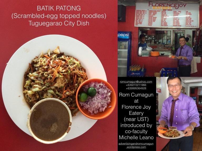 Batik Patong ( Scrambled-egg topped noodles ) Tuguegarao Dish