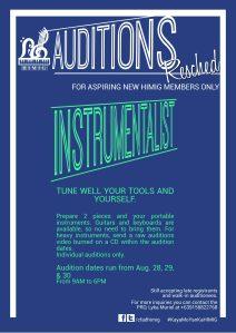 INSTRUMENTALIST AUDITIONS