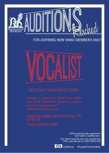 Vocalist Auditions