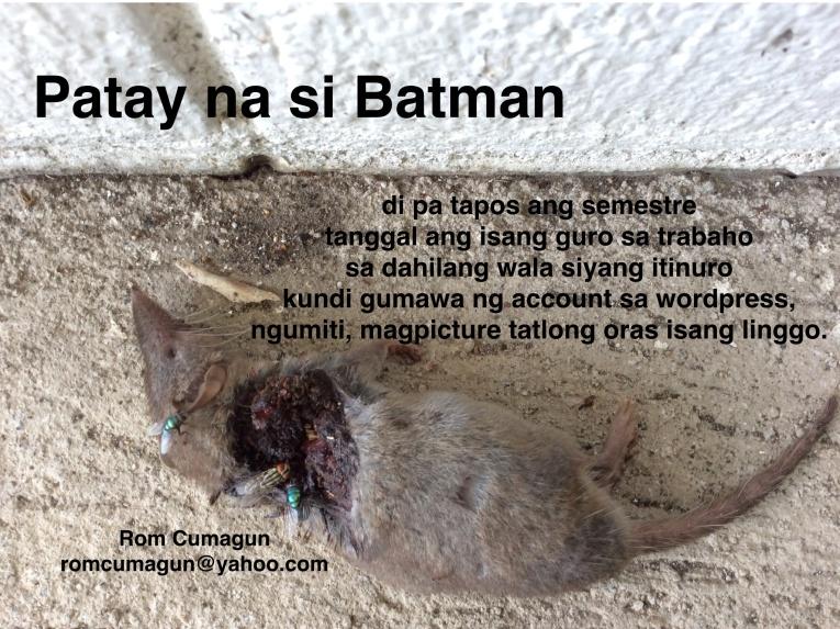 BATMAN IS DEAD