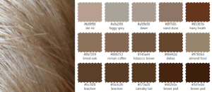 my hair swatches