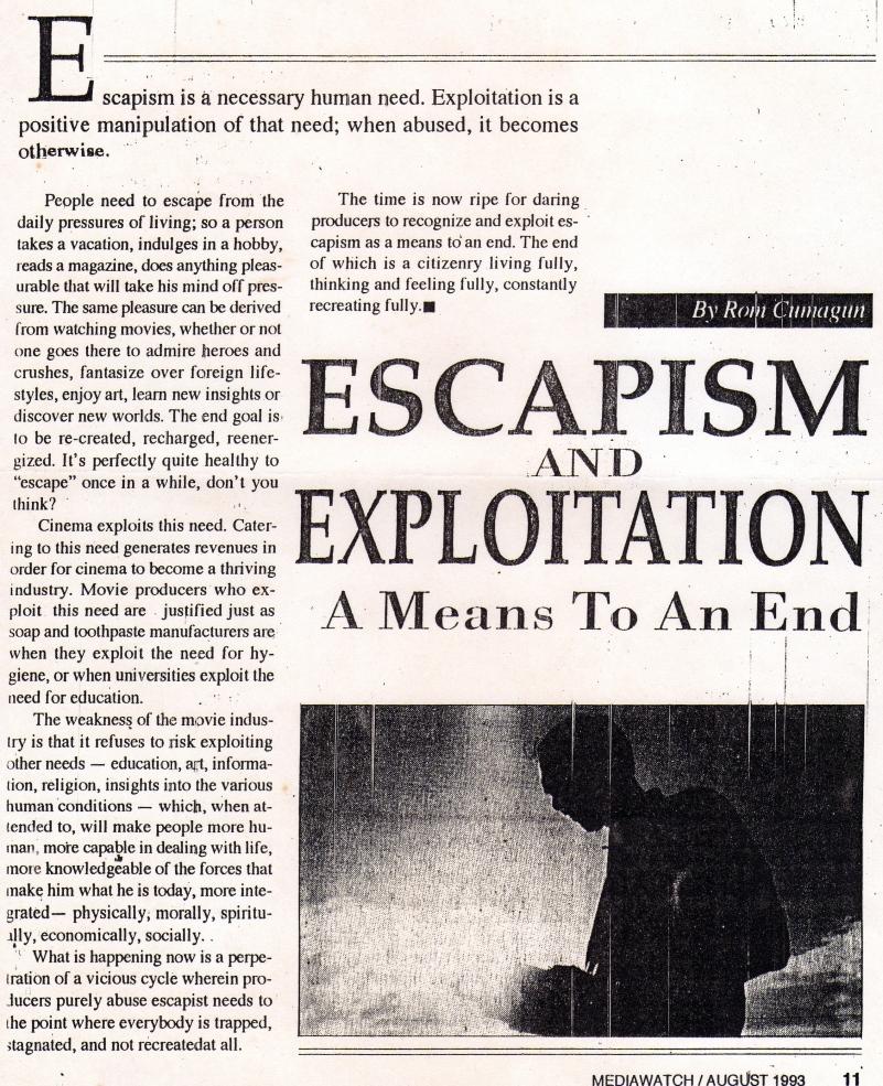 Escapism & Exploitation