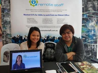 """Australian BPO company Remote Staff Philippines hires up to 50 Filipino home-based professionals monthly. The company has expanded to contracting a variety of professionals such as web developers, web and graphic designers, virtual assistants, and other computer/phone-based job roles. Remote Staff connects them with international clients based in Australia, the UK and the US. The company, accredited by the government under the name Remote Staff Inc. started in 2007. Since then it has been hiring people across the Philippines. Whether job hunters live in urban or rural areas, so long as they meet the minimum Internet speed requirement (at least 1 MBPS), speak very good English and can commit to building a long-term career working with their clients, they may be hired. """"If you work a day, you will be paid a day, monthly, on time and in your own local currency. We even offer lifetime re-hiring security. That's why we have a dedicated in-house team of over 30, ready to help you start and maintain your home-based career. If you are considering becoming a Remote Staff contractor, we have 3 proven methods to get you hired: Online available staffing lists – your permanent online presence allows prospective clients to view and access your profile anytime. Custom recruitment service – we personally recommend your resume by matching, showcasing and endorsing your portfolios to our clients. Recruitment specialist's exclusive representation – we assign a recruitment specialist to personally contact employers in the marketplace for you. Once you're hired, our role continues by ensuring you have a professional home-based working environment, and monitoring your progress everyday. Join the hundreds of professionals enjoying the freedom, security, stability, and happiness of being part of the Remote Staff family. To get started, register as a Jobseeker."""" Address: 27th floor, Trafalgar Plaza, 105 H.V. De La Costa Street, Salcedo Village, 1227 Makati City, Philippines Phone: +63284642"""