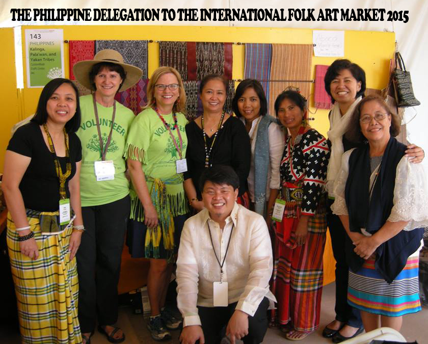 Tanya Lat, Program Officer for Formation (Social Programs) Ateneo de Manila University Law School, Executive Director for Association of Law Schools, Professor at Ateneo posted a photo on her facebook commenting: The Philippine delegation is all smiles as we pose for a group picture with our volunteers at the close of the 2015 International Folk Art Market. We had a good run this year! Already looking forward to next year's IFAM. smile emoticon — with Andy Moran, Bernadeth Ofong, Anna India Legaspi, Beng Ronquillo-Camba, Noi Quesada and Ruth P. Canlasin Santa Fe, New Mexico