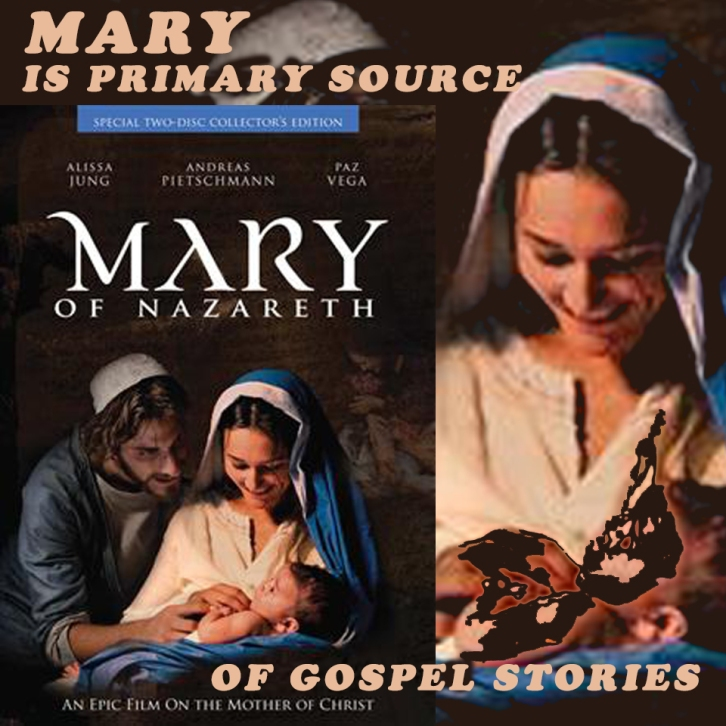 MARY IS PRIMARY SOURCE OF GOSPEL STORIES
