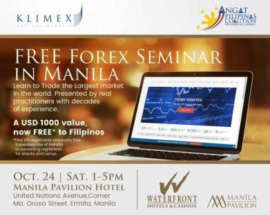 FREE FOREX SEMINAR IN MANILA