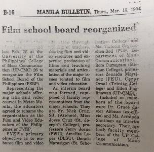 Film school board reorganized