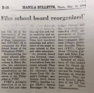 Film school board reorganized
