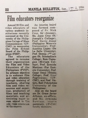 Film educators reorganize