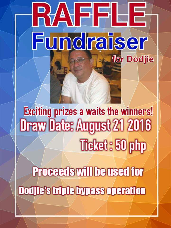 Ticket is at 50 pesos each. You may approach any of us tagged on this post if you wish to help and join the raffle. Our family thanks you in advance for your generosity and kindness. May God continue to bless us. — with JM Cabarrubia, Astrid Julienne Datuin, Dodjie Cabarrubia, Leonora Datuin, Nica Datuin, Christine Ruth Datuin, Christine Rachel Datuin and Lita Jacob.