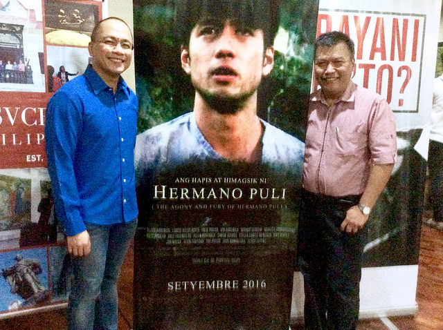 "ANG HAPIS AT HIMAGSIK NI HERMANO PULI Showing Sept. 21, 2016 ‪#‎HermanoPuli‬‪ #‎MangahasUmibig‬ ‪#‎makemoneyandmeaning‬ Featuring Interview with Rex Tiri Executive Producer Official Sountrack by Let Gravity Sucesos Walking Tours Educators' Screening of the historical film ""HERMANO PULI"" August 19, 2016"