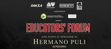 """For school/university heads, social science department heads and coordinators, social studies and araling panlipunan teachers: Be among the first to watch this important film for free! SFI Educational Tours will be holding a by-invitation only Educators' Screening of the historical film """"HERMANO PULI"""" on August 26, 2016, 8am-12nnpm at the Quezon City Museum, Quezon Memorial Circle. (Snacks and a Hermano Puli teachers' kit shall be provided). If you would like to have the chance to be part of this event, register through this August 26 screening link. for August 19 Screening. A historical drama film about Hermano Puli—the revolutionary legend of Quezon we know little about. Apolinario dela Cruz, known as Hermano Puli, was shot and quartered on November 4,1841—three decades before the execution of the GOMBURZA. Among all of the Filipino heroes, Hermano Puli stands alone for leading the only revolt against the Spanish colonial government in the name of religious freedom. This film sheds light on one of the most fascinating, yet almost forgotten, figures in Philippine History. STARRING: Aljur Abrenica, Louise Delos Reyes, Enzo Pineda, Menggie Cubarrubias, Ross Pesigan, Acrchie Adamos, Markki Stroem, Simon Ibarra, Vin Abrenica, Allen Abrenica, Sue Prado, Kiko Matos, Stella Canete, Diva Montelaba, Abel Estanislao, Alvin Fortuna, DIRECTION: Gil M.Portes SCREENPLAY: Eric Ramos PRODUCTION: Rex Tiri CONTACT: contact@hermanopuli2016.com WEBSITE: http://hermanopuli2016.com RELEASE DATE: September 2016 GENRE: Historical Drama STUDIO: T-Rex Productions"""